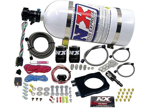 Nitrous Express 20944-10 Chrysler EFI HEMI Nitrous Plate System (10lb. Bottle Incl.) - Hemi Engines 2003+ - Gauge Performance