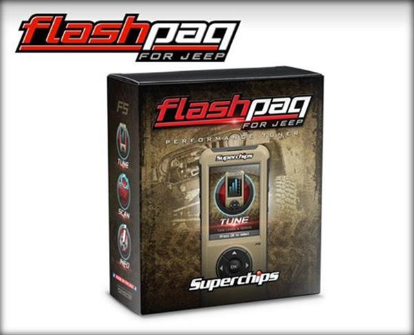 Superchips Flashpaq Tuner - Jeep '98-14 - Gauge Performance