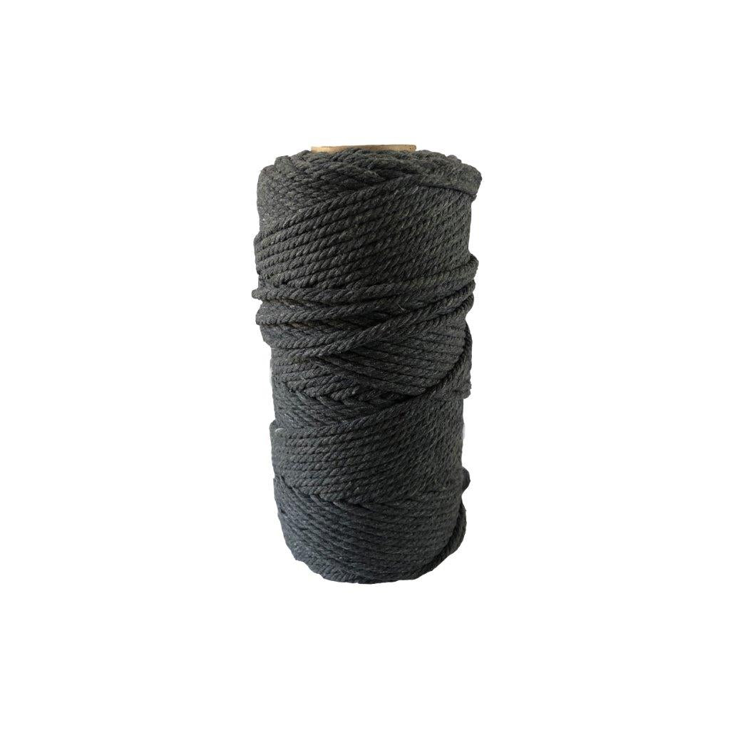 Luxury Macrame Cord ~ Charcoal Grey Rope 1kg, 4mm