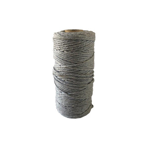 Luxury Macrame Cord ~ Light Grey Rope 1kg, 4mm