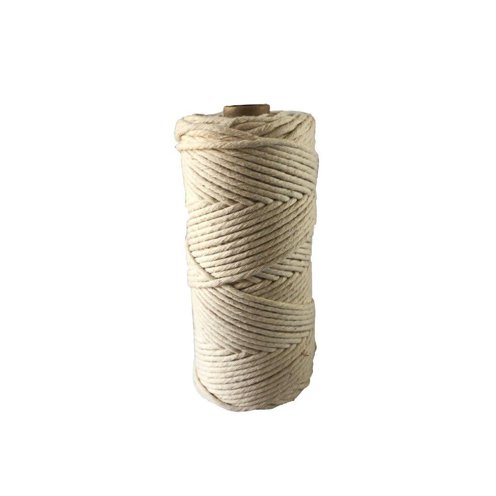 Luxury Macrame Cord ~ Natural String 3mm (100m roll)