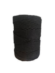 Luxury Macrame Cord ~ Ebony Black Rope 4mm