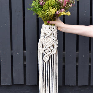 Hire Macrame Bouquet Wrap ~ Diamond