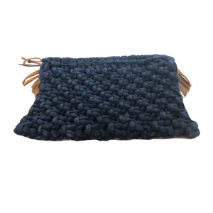 Clutch Bag ~ leather tassels