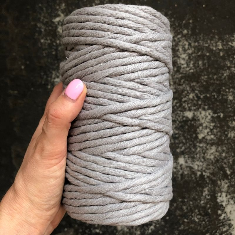 Macrame Cord ~ (Premium) Light Grey String 250g, 4mm