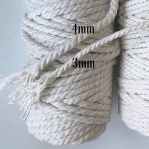 Macrame Cord ~ Cotton Twine 4mm, 500g