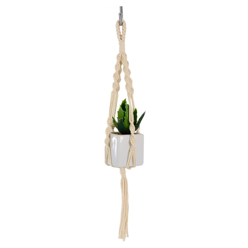 Macrame Mini Plant Hanger ~ Twister, cotton