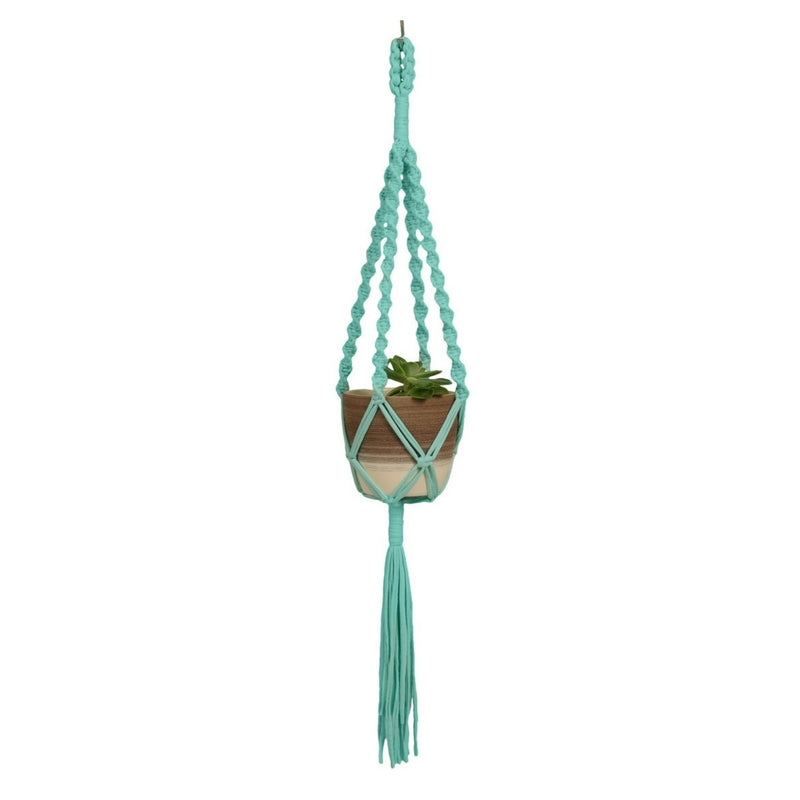 Macrame Plant Hanger ~ Twister Solid, T-shirt Yarn