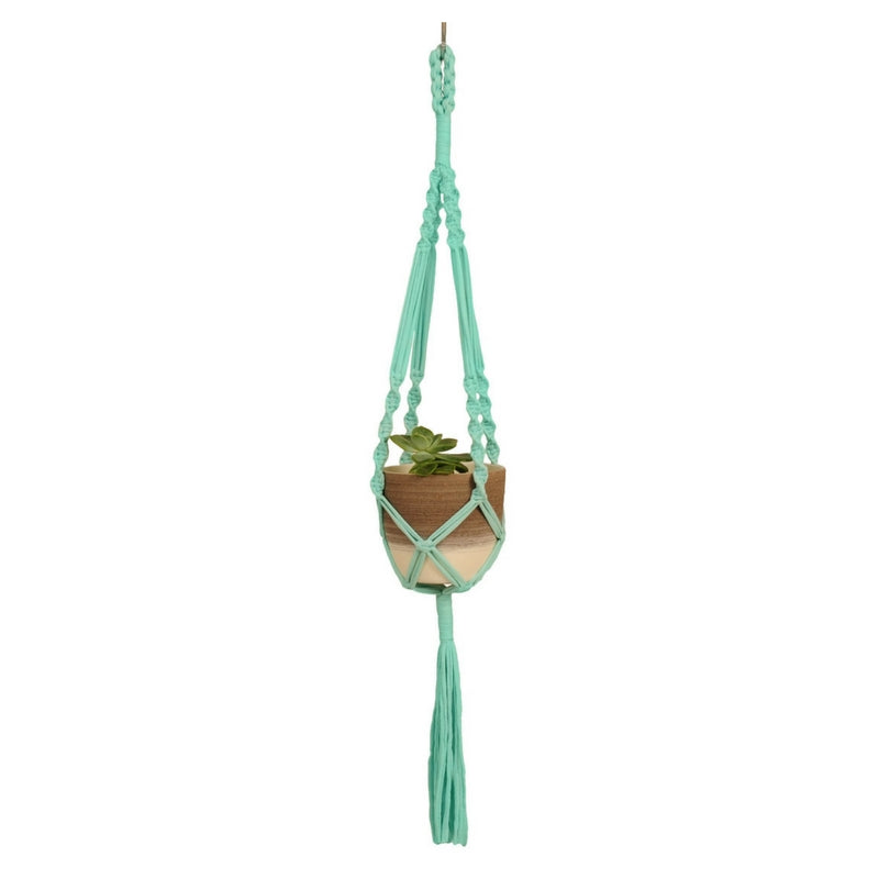 Macrame Plant Hanger ~ Twister Space, T-shirt Yarn