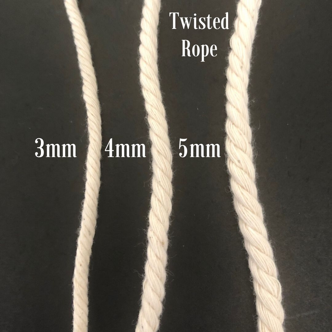 Macrame Cord ~ Pale Brick Rope 4mm