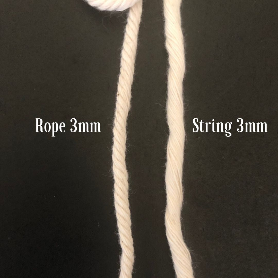 Macrame Cord ~ Marshmallow Pink Rope 4mm