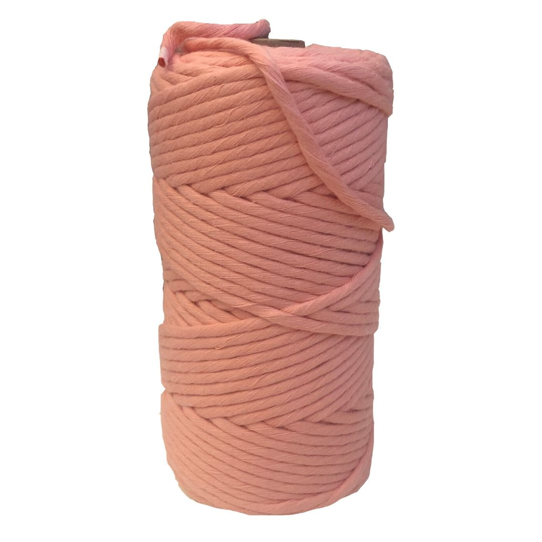 Luxury Macrame Cord ~ Salmon String, 4mm (100m roll)