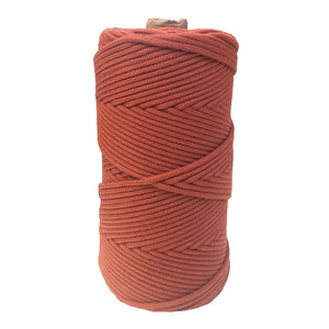 Luxury Macrame Cord ~ Terracotta Braid 3mm (100m roll)