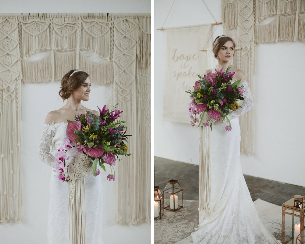 Hire Macrame Arch Backdrop ~ Aimee