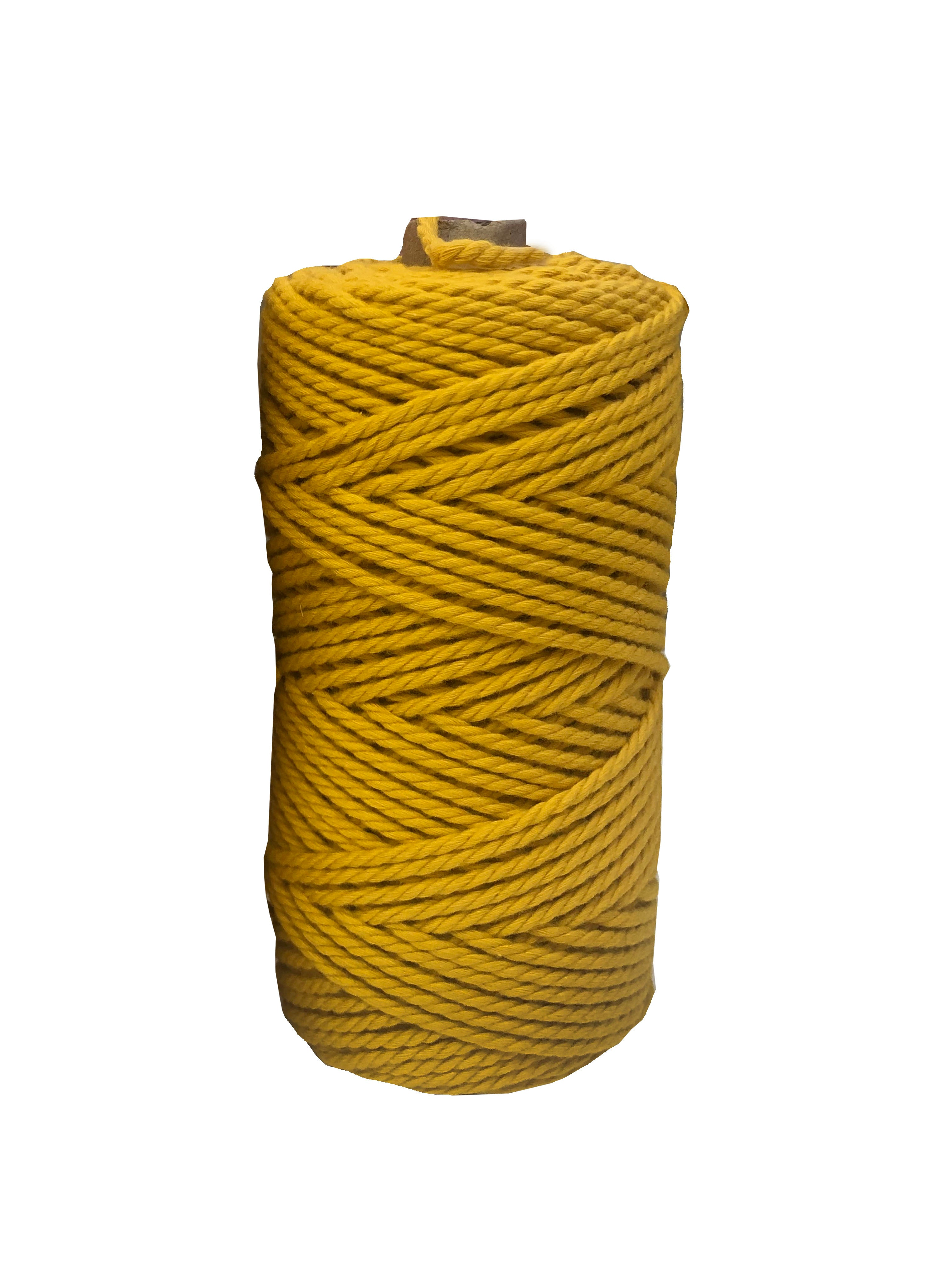Luxury Macrame Cord ~ Yellow Rope, 4mm (100m roll)