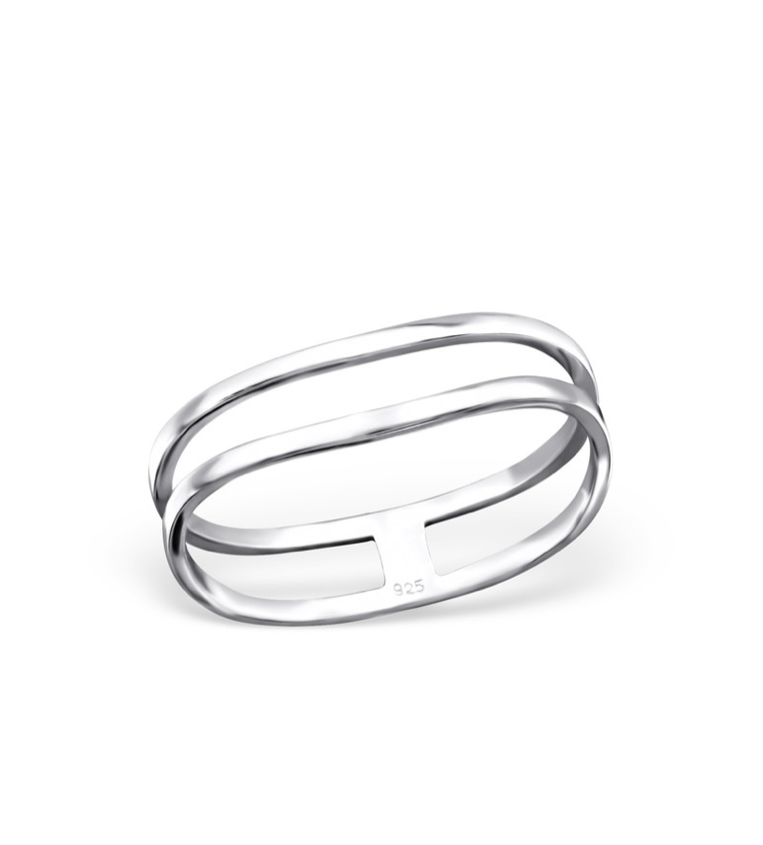 Duo Sterling Silver Ring