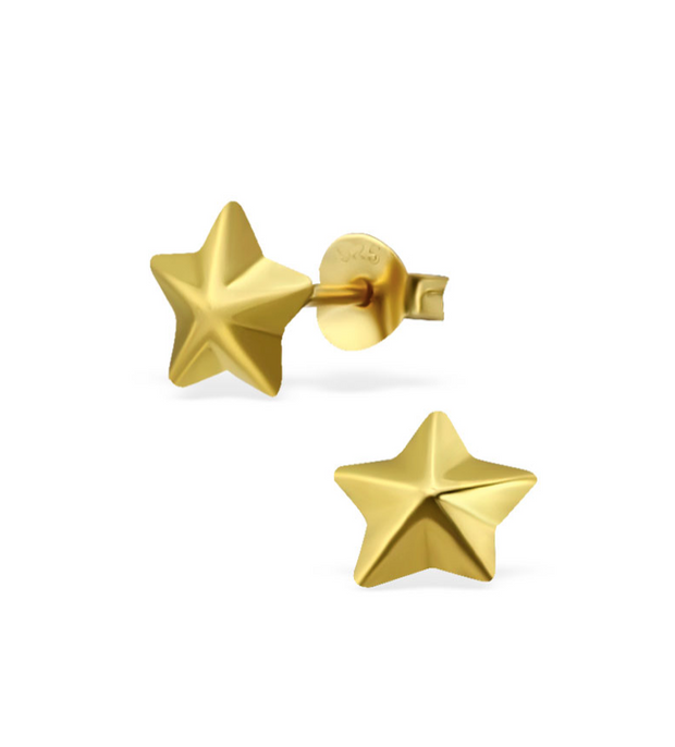 Lucky Star Studs Sterling Silver