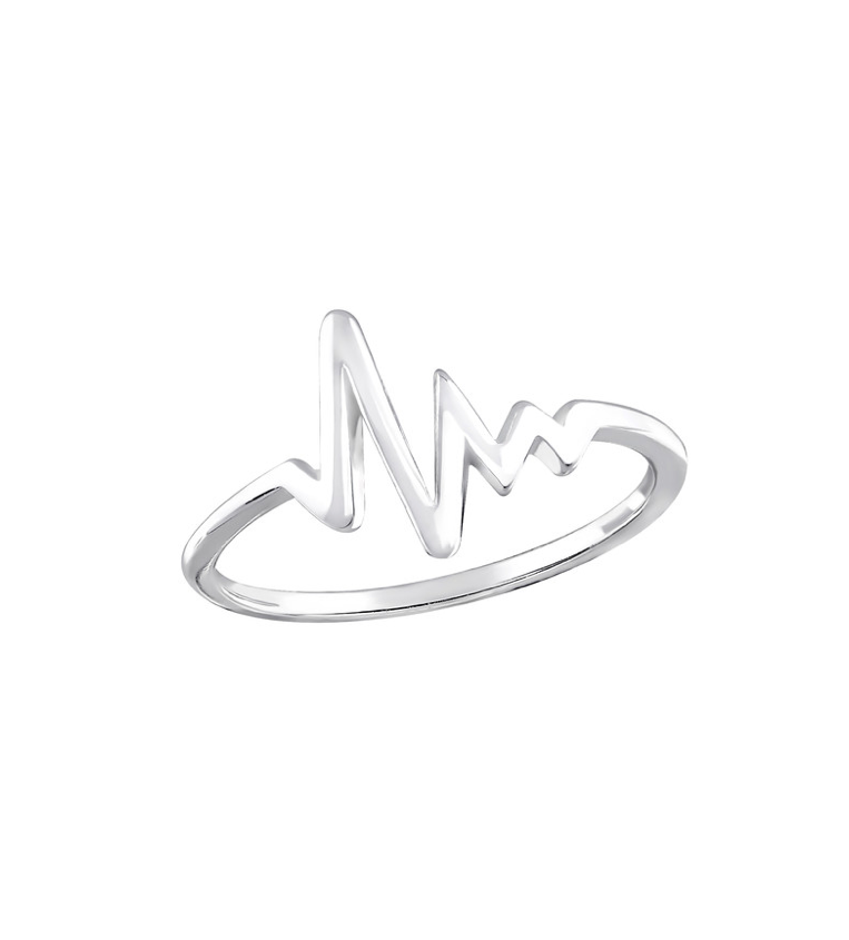 Heartbeat Ring Sterling Silver
