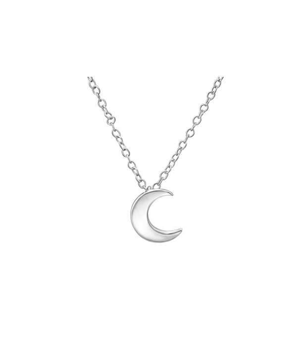 Silver Moon Necklace Sterling Silver
