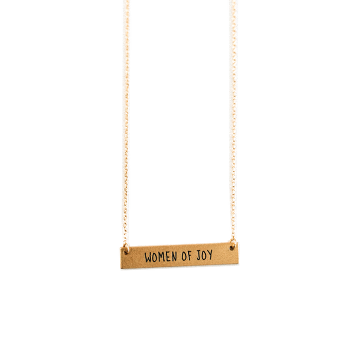 'Women of Joy' Gold Bar Necklace