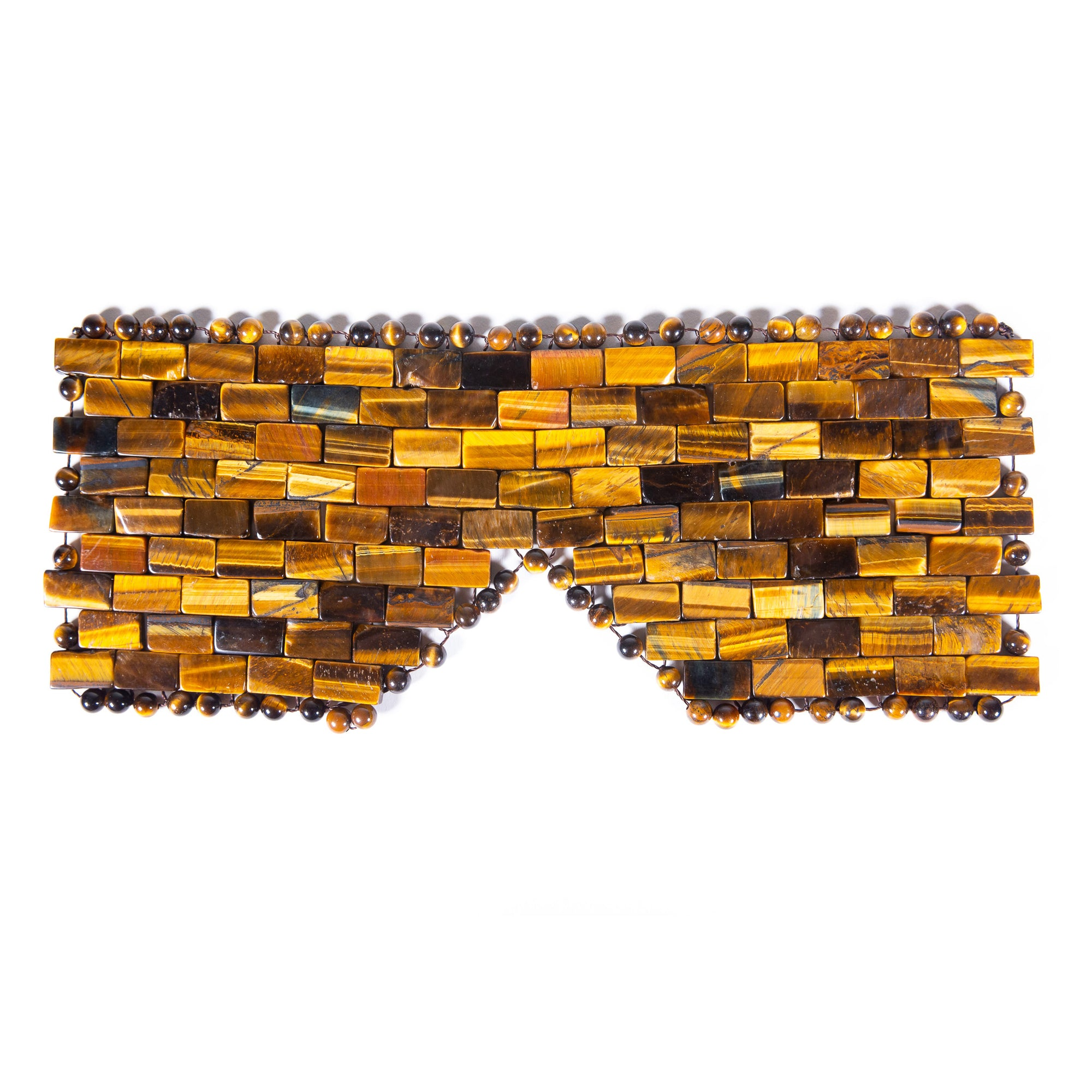 Tiger's Eye Crystal Eye Mask