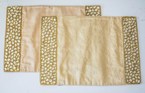 Jewel Placemat Gold Set of 2