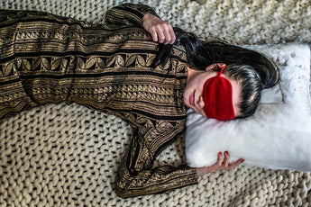 Red Cotton Eye Mask With Bag