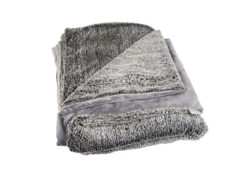 Corded in Slate Throw