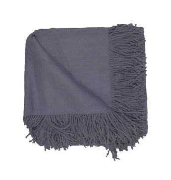 Silk Fleece Throw in Charcoal