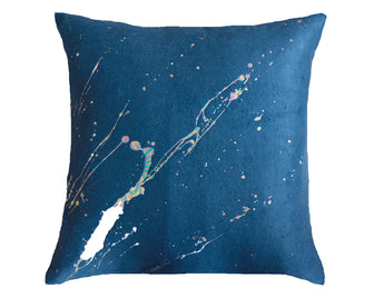 Constellation in Prism Dusk on Silk Fleece in Navy
