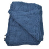 Cotton Throw in Denim