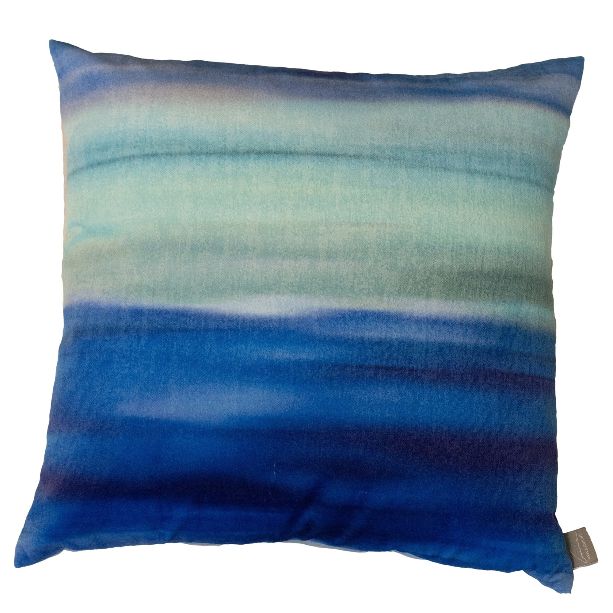 Blue Azure Gravity Mohair Pillow