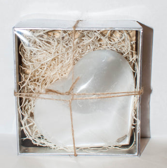 Selenite Heart Gift Box