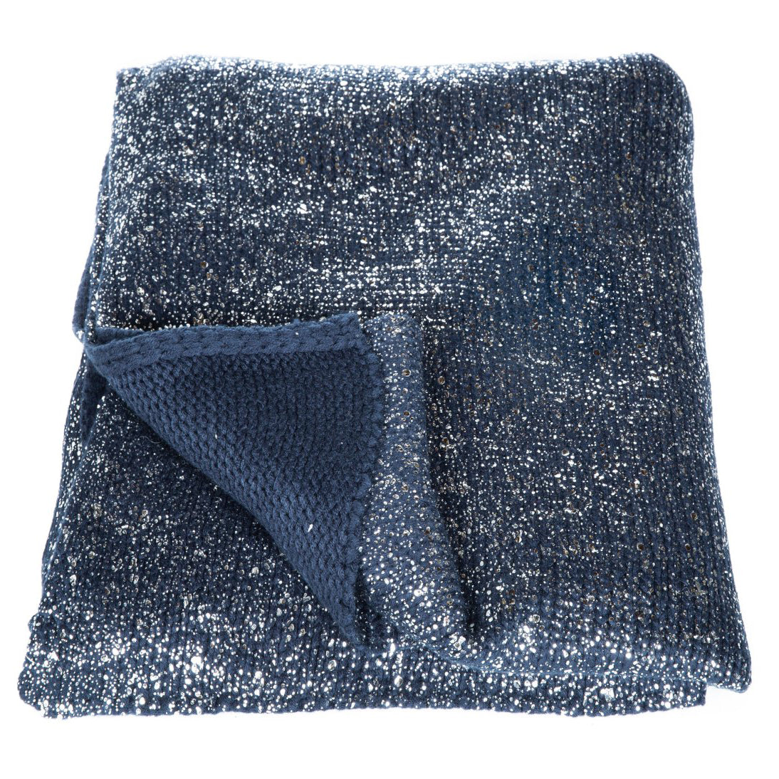 Constellation Knit Navy/Silver Throw