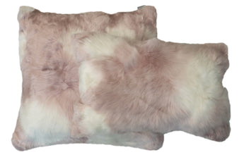 Suri Alpaca Pillow White/Pink
