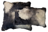 Suri Alpaca Pillow Gray with Ivory