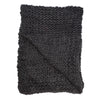 Chunky Knit Merino Wool Throw in Charcoal