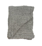 Chunky Knit Merino Wool Throw in Cobble