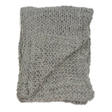 Chunky Knit Wool Throw in Cobble