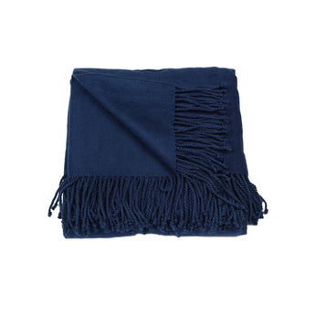 Silk Fleece Thow in Navy