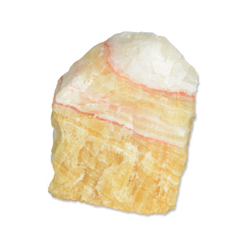 Banded Yellow Calcite