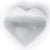 "Selenite Hearts 2"" set of 3"