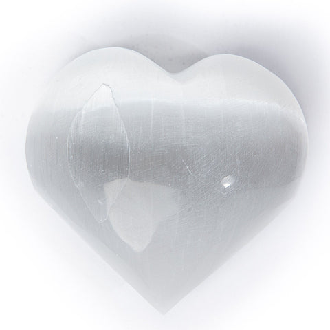 Selenite Hearts 2""
