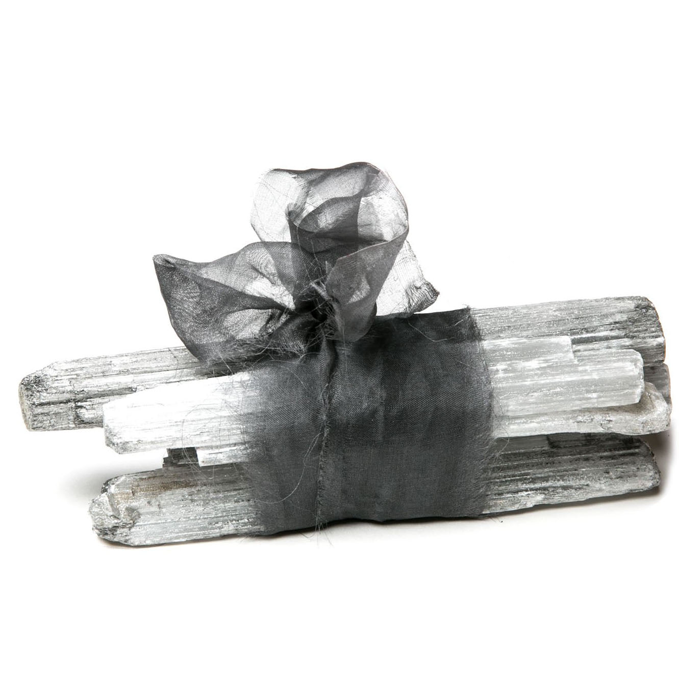 Selenite Log Bundle with Ribbon