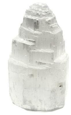 Selenite Step Lamp
