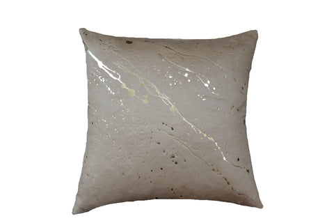 Constellation in Bronze on Silk Fleece in Fawn