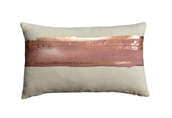 Horizon in Rose Water on Canvas with Rose Gold