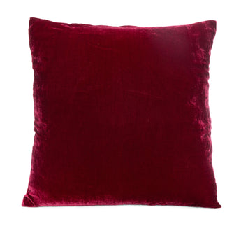 Solid Silk Velvet in Berry