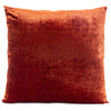 Solid Silk Velvet in Rust