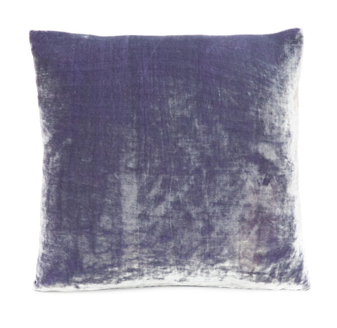 Solid Silk Velvet in Lilac Pillow
